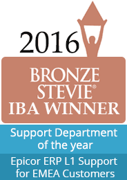 Bronze Stevie IBA winner support department