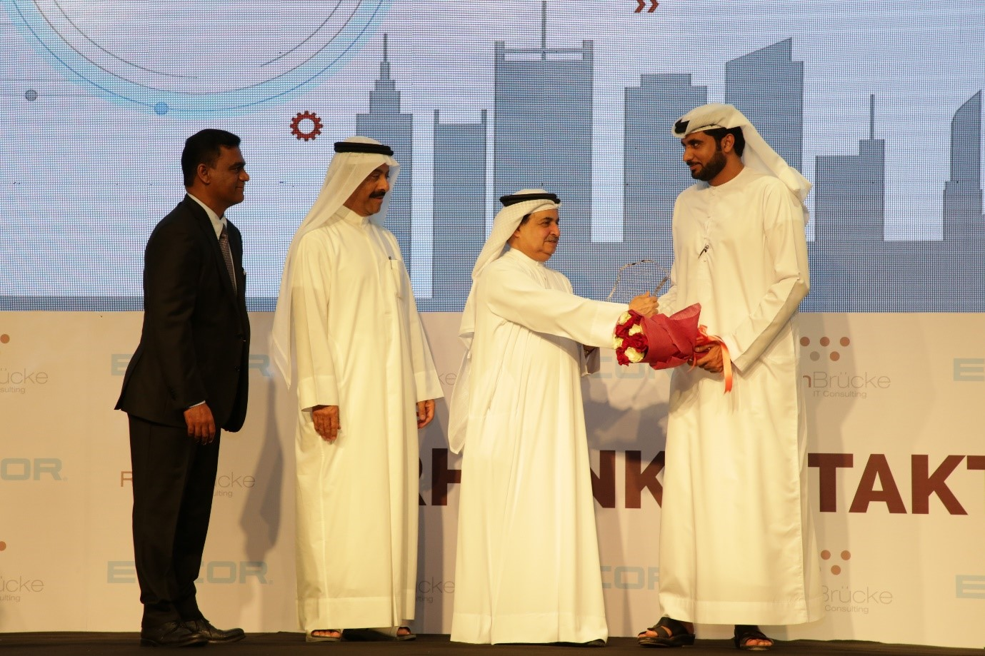 His Excellency Sheikh Mohammed bin Saqr Al Nuaimi for Outstanding contribution to Society